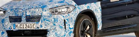 宝马iX3被发现戴着一些时髦的新车轮