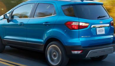2020年福特EcoSport的建议零售价为20485美元