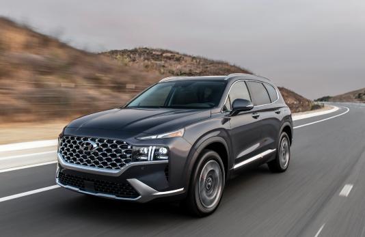 2021 Hyundai Santa Fe揭晓,具有重大的设计更新和功能