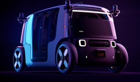 亚马逊的Zoox展示了一个双向自动运输吊舱
