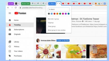将谷歌Chrome的标签组功能用于更有组织的浏览器