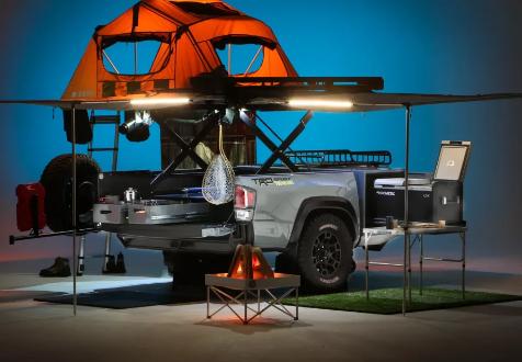 丰田Tacoma露营车预告片是一款可陆上多功能工具