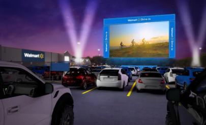 沃尔玛在其停车场推出160个免费的免驱影院