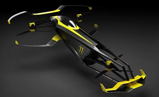 CarCopter飞行赛车概念旨在彻底改变赛车运动