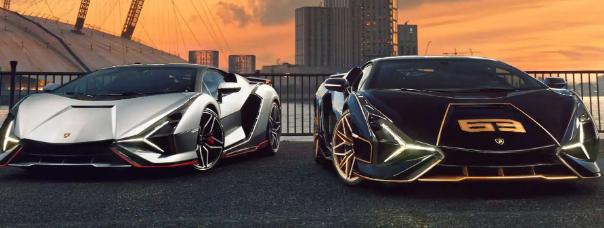 伦敦经销商交付两辆兰博基尼Sian混合动力超级跑车