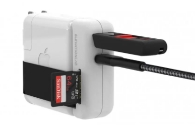 ElevationHub为您的MacBook充电器添加了方便的USB端口和读卡器