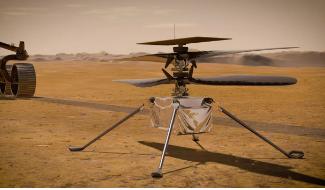 巧匠直升机从火星表面向NASA报到