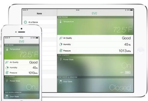 ElgatoEve将与iOS8HomeKit配合使用监控您房屋中的空气