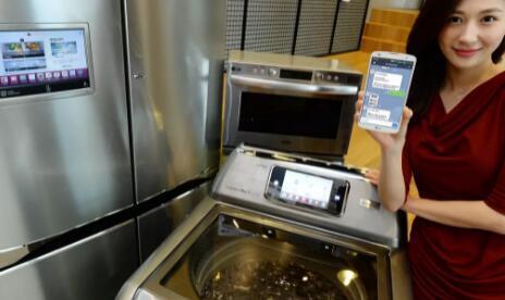 LG的智能洗衣机还配备了HomeChat功能