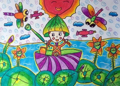 登上儿童画作品选特种邮票的3幅作品我的中国梦国粹之韵和希望与梦想
