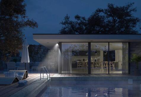 Netgear的智能泛光灯日夜监视您的院子