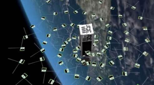 康奈尔大学的研究人员发射了105颗Cracker大小的卫星