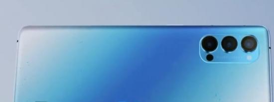 OPPOReno4手机后盖上有大大的RenoGlow标志