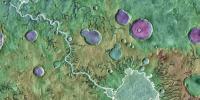火星表面因陨石坑溢出的快速而猛烈的洪水而形成